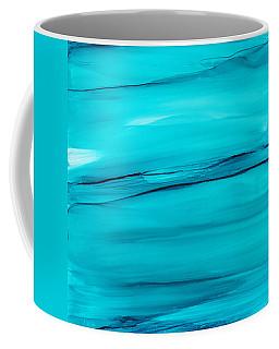 Adrift In A Sea Of Blues Abstract Coffee Mug