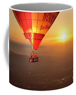 Coffee Mug featuring the photograph Adrift In The Mist At Sunrise by Ray Warren
