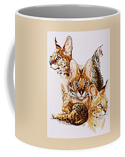 Coffee Mug featuring the drawing Adroit by Barbara Keith