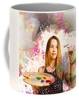 Coffee Mug featuring the photograph Adult Art Class Painter by Jorgo Photography - Wall Art Gallery