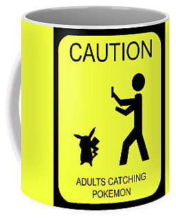Coffee Mug featuring the digital art Adults Catching Pokemon 1 by Shane Bechler