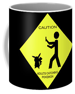 Coffee Mug featuring the digital art Adults Catching Pokemon 2 by Shane Bechler