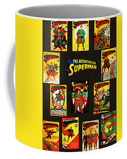 Coffee Mug featuring the mixed media Adventures Of Superman by W And F Kreations