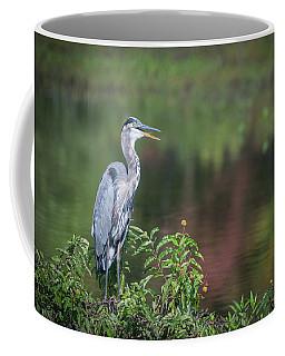 Advice From A Great Blue Heron Coffee Mug