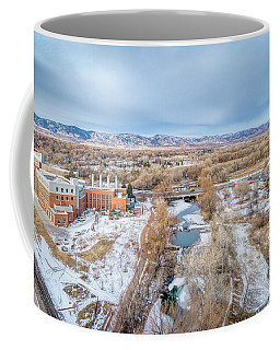 aerial cityscape of Fort Collins Coffee Mug