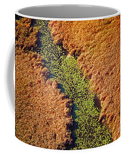 Aerial Farm Stream Lillies  Coffee Mug