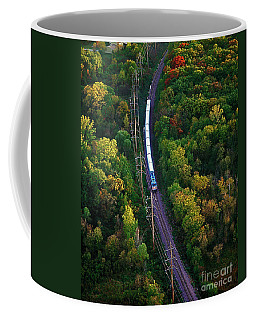 Aerial Of  Commuter Train  Coffee Mug