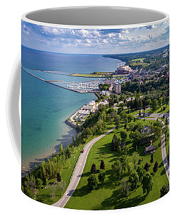 Aerial Of Port Washington Coffee Mug