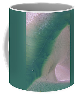Coffee Mug featuring the photograph Aerial Photo Of Noosa River In Detail by Keiran Lusk