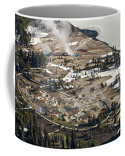 Aerial Photo Of West Thumb Geyser Basin Coffee Mug