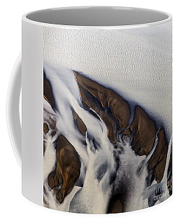 Aerial Photo Thjosa Iceland Coffee Mug