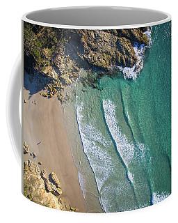 Aerial Shot Of Honeymoon Bay On Moreton Island Coffee Mug