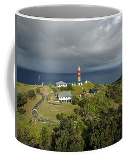 Aerial View Of Cape Moreton Lighthouse Precinct Coffee Mug