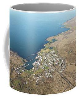 Aerial View Of Iceland South Coast  Coffee Mug