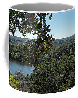 Aerial View Of Large Forest And Lake Coffee Mug