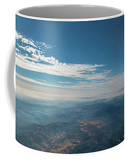 Coffee Mug featuring the photograph Aerial View Of Mountain Formation With Low Clouds During Daytime by PorqueNo Studios