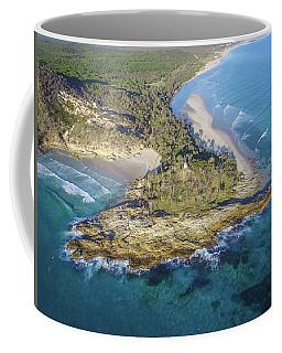 Aerial View Of North Point, Moreton Island Coffee Mug