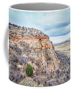 aerial view of northern Colorado foothills  Coffee Mug