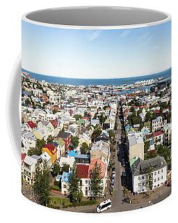 Aerial View Of Reykjavik In Iceland Coffee Mug