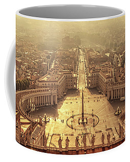 Aerial View Of St Peter's Square Coffee Mug