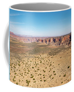 Coffee Mug featuring the photograph Aerial View Of The West Rim Of The Grand Canyon From Helicopter by PorqueNo Studios