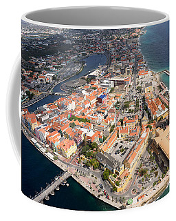 Aerial View Of Willemstad, Curacao Coffee Mug