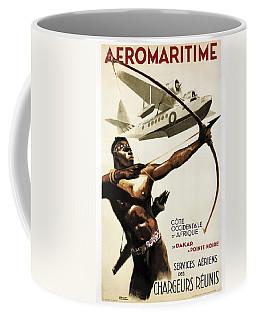 Aeromaritime To Africa Vintage Travel 1950 Coffee Mug