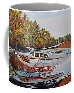 Coffee Mug featuring the painting Aeronca Super Chief 0290 by Marilyn  McNish