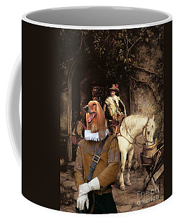 Afghan Hound-at The Tavern Canvas Fine Art Print Coffee Mug