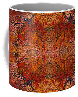 Aflame With Flower Quad Hotwaxed Version Of Acrylic/watercolour Coffee Mug