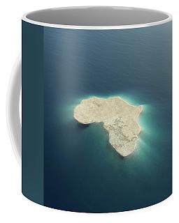 Africa Conceptual Island Design Coffee Mug