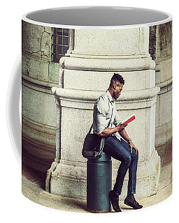 African American College Student Studying In New York Coffee Mug