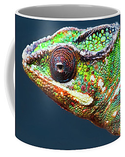 Coffee Mug featuring the photograph African Chameleon by Richard Goldman