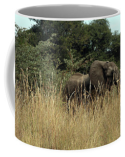 African Elephant In Tall Grass Coffee Mug