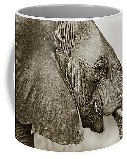 African Elephant Profile  Duotoned Coffee Mug