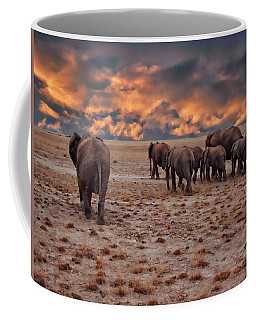 African Elephants Coffee Mug