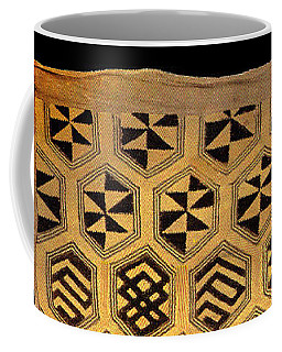 African Kuba Cloth Print Coffee Mug by Vagabond Folk Art - Virginia Vivier