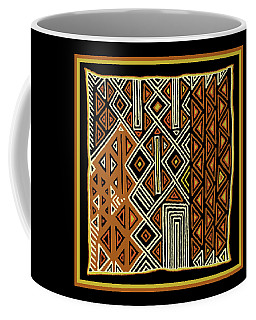 African Kuba View From Earth Coffee Mug by Vagabond Folk Art - Virginia Vivier