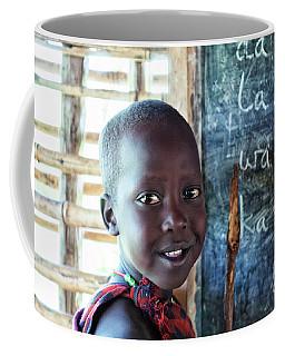 Coffee Mug featuring the photograph African Maasai Child 4269 by Amyn Nasser