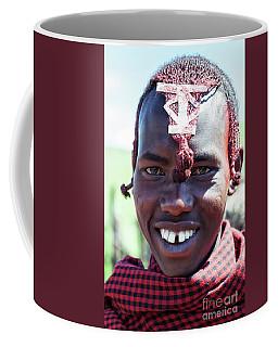 Coffee Mug featuring the photograph African Maasai No4220 by Amyn Nasser