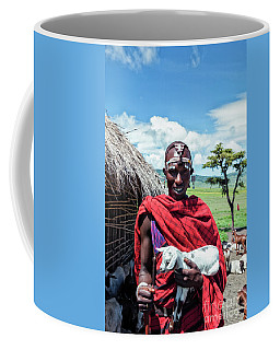 Coffee Mug featuring the photograph African Maasai No4279 by Amyn Nasser