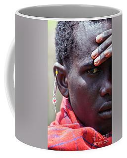 Coffee Mug featuring the photograph African Maasai Warrior 4335 by Amyn Nasser