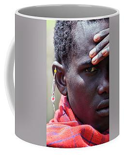 African Maasai Warrior Coffee Mug by Amyn Nasser