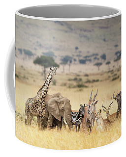 African Safari Animals In Dreamy Kenya Scene Coffee Mug