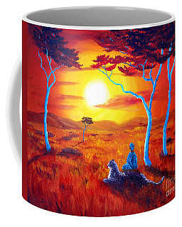 African Sunset Meditation Coffee Mug by Laura Iverson