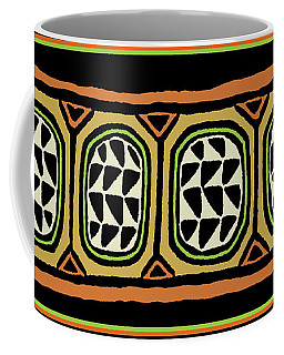 Coffee Mug featuring the digital art African Tribal Textile by Vagabond Folk Art - Virginia Vivier