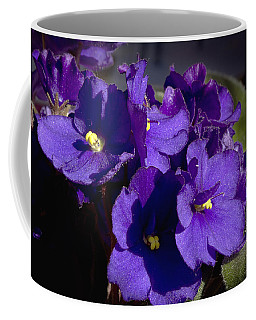 Coffee Mug featuring the photograph African Violets by Phyllis Denton
