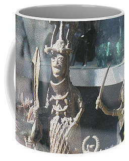 African Warrior Figurine Coffee Mug