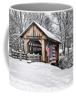 After A Winter Snow Storm Cilleyville Covered Bridge  Coffee Mug by Betty Pauwels