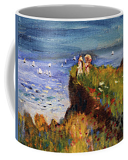 After Monet Somewhere On The Cliffs Of Normandie Coffee Mug